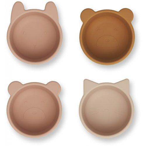 Liewood Malene silicone bowl roze konijn