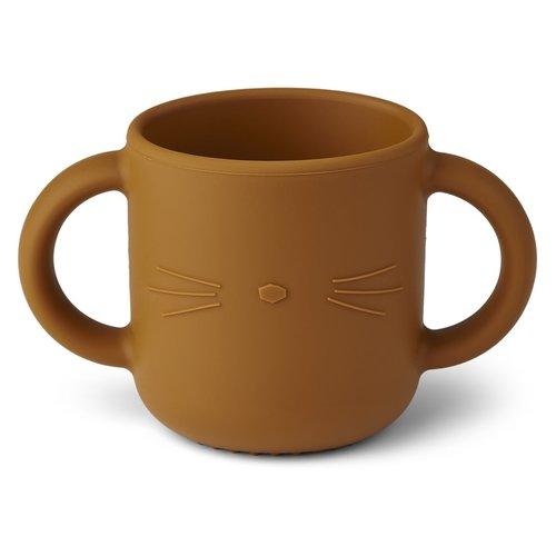 Liewood Gene Cat drinkbeker mustard