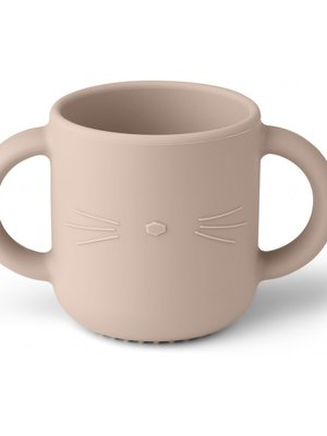 Liewood Gene Cat drinkbeker lichtroze