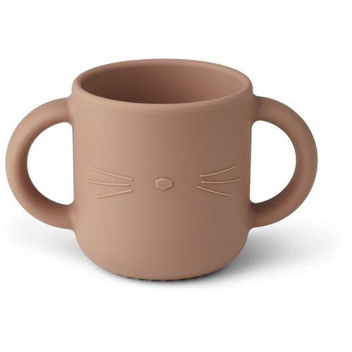 Liewood Gene Cat drinkbeker donkerroze