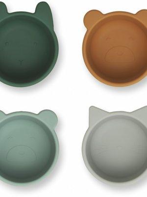 Liewood Malene silicone bowl lichtblauw/grijs