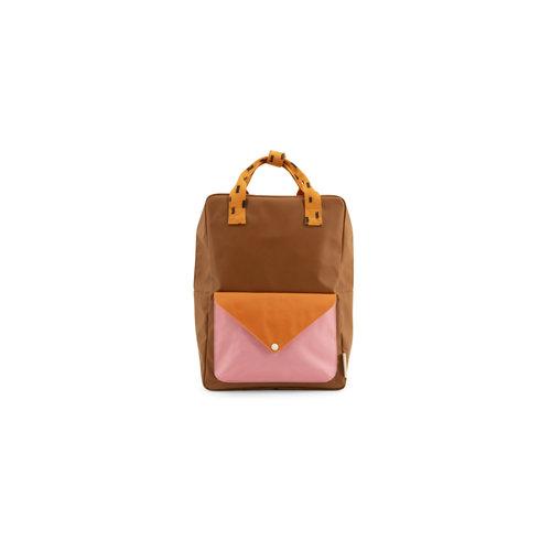 sticky lemon Sticky Lemon backpack large | sprinkles envelope syrup brown + carrot orange + bubbly pink