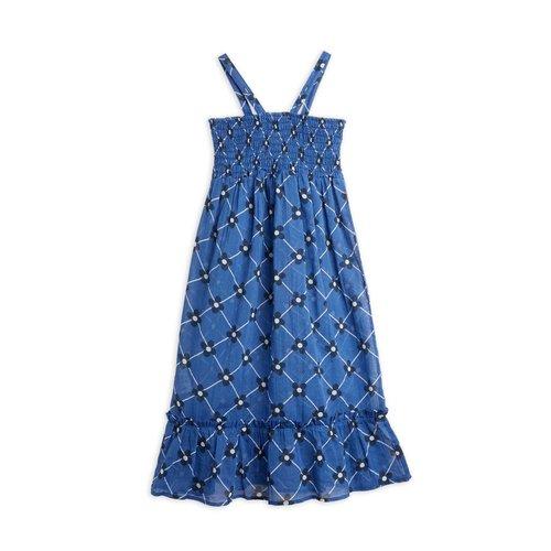 Mini rodini Flower check woven smock dress
