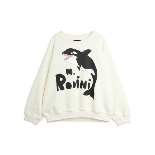 Mini rodini Orca sweatshirt off white