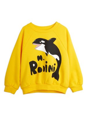 Mini rodini Orca sp sweatshirt yellow