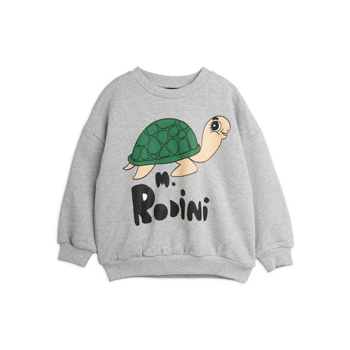 Mini rodini Turtle sp sweatshirt lichtgrijs