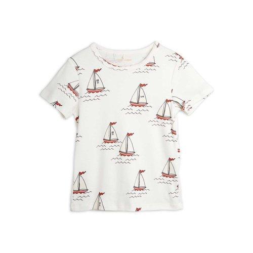 Mini rodini Sailing boats aop ss tee white