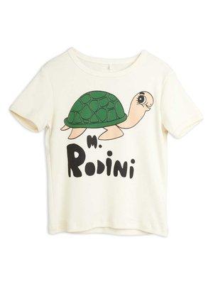 Mini rodini Turtle sp ss tee off white