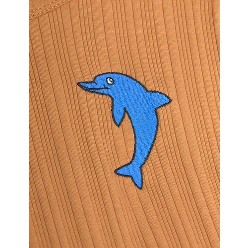 Mini rodini Dolphin emb ss tee
