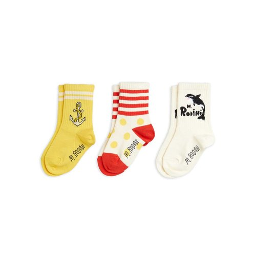 Mini rodini Orca 3-pack socks