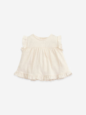 Play Up T-shirt with frill 11051 0058 dandelion