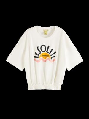 Scotch & Soda Tshirt with smocked hem 162430