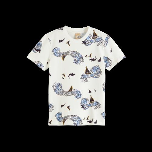 Scotch & Soda Pique t-shirt 161119