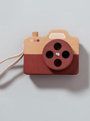 Houten camera bruin