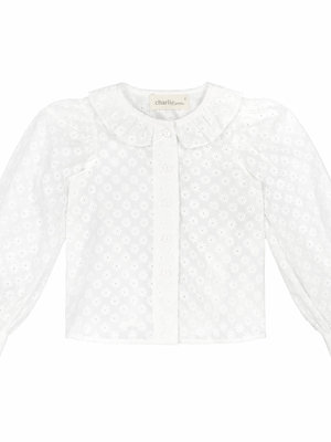 Charlie petite Blouse white broderie