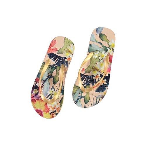 Molo Zeppo Hawaiian flowers slippers
