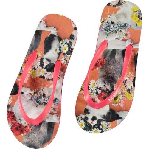 Molo Zeppo flower power cats slippers