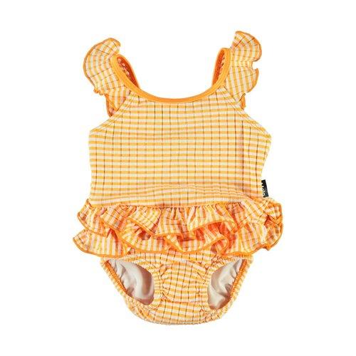 Molo Nalani orange stripe baby badpak