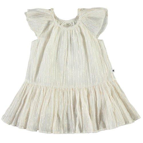 Molo Cindie  metallic stripe jurk