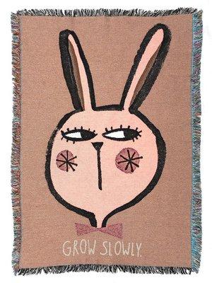 Studio loco Wandtapijt / deken rabbit/ grow slowly
