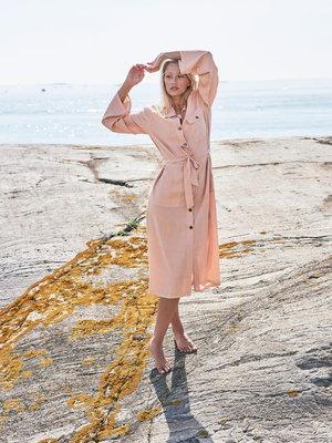 Idigdenim Lisette hemdjurk roze zand