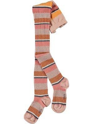 Molo Stripy tights coral stripe