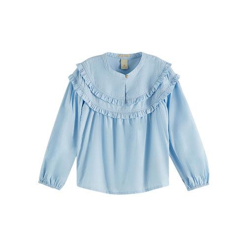 Scotch & Soda Lichtblauwe blouse 162255