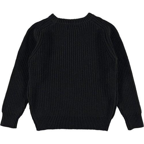 Molo Bosse black gebreiden sweater