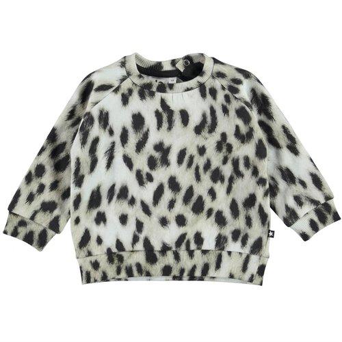 Molo Disco snowy leo fur sweater