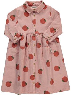 piupiuchick Long shirt dress | light pink w/ allover