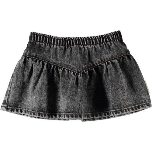 "piupiuchick Short skirt ""v"" shape | washed black denim"
