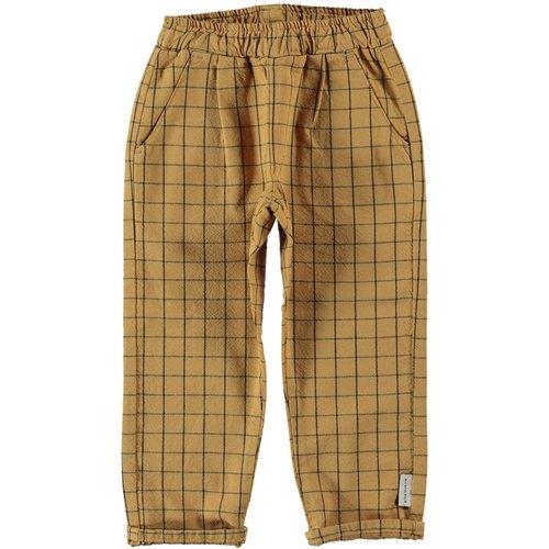piupiuchick Unisex trousers | camel checkered |