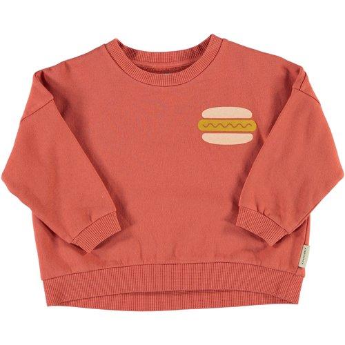 piupiuchick Unisex sweatshirt | brick w/ print