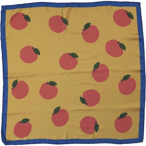 piupiuchick Silky bandana/scarf | toasted yellow w/ print