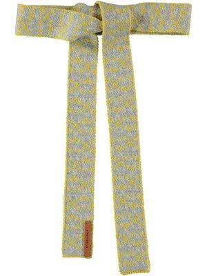piupiuchick Knitted belt | multicolor pinkish jackard