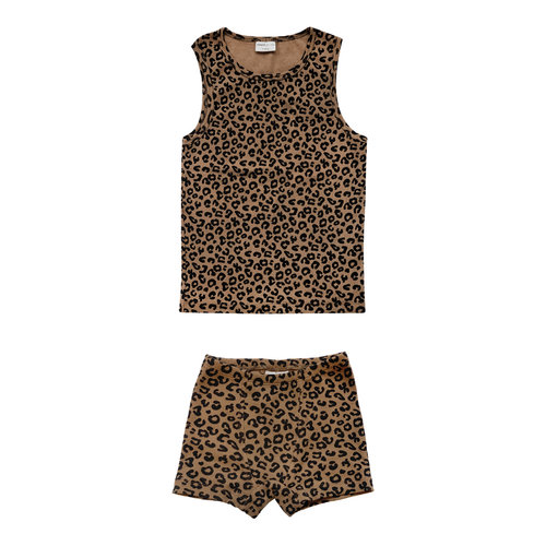 Maed for mini Chocolate leopard boxer set