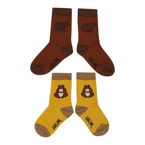 CarlijnQ Socks Set - alpine marmot & grizzly