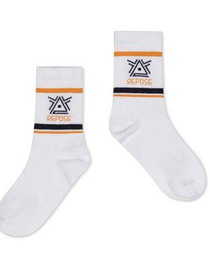 Repose AMS Sporty socks  crisp white logo