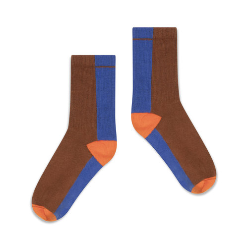Repose AMS Sporty socks chocolate color block