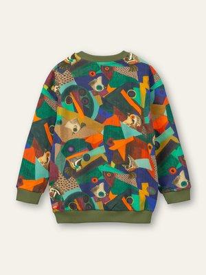 oilily Heritage sweater 76 AOP Cubic birds