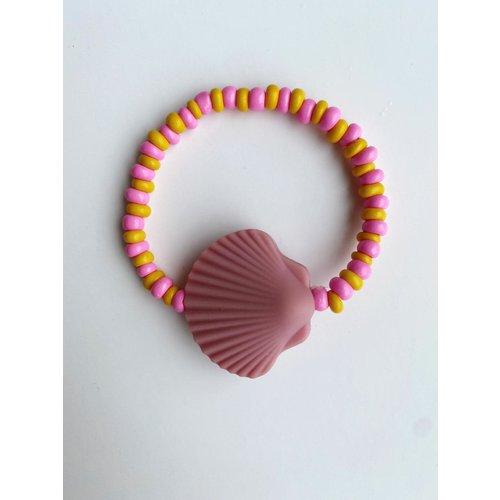 Bymelo Armband schelp roze