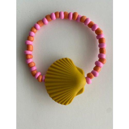 Bymelo Armband schelp geel