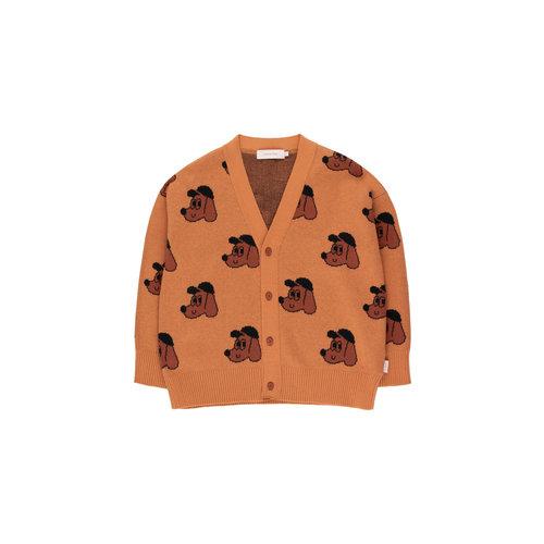 Tiny cottons DOG CARDIGAN true brown/dark copper