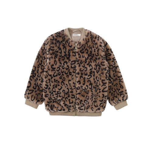 ammehoela Nina taupe black leopard jacket