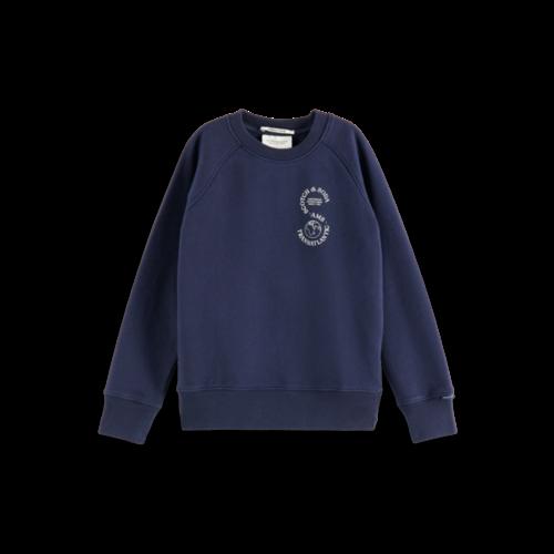 Scotch & Soda 162730 Regular raglan fit artwork sweatshirt