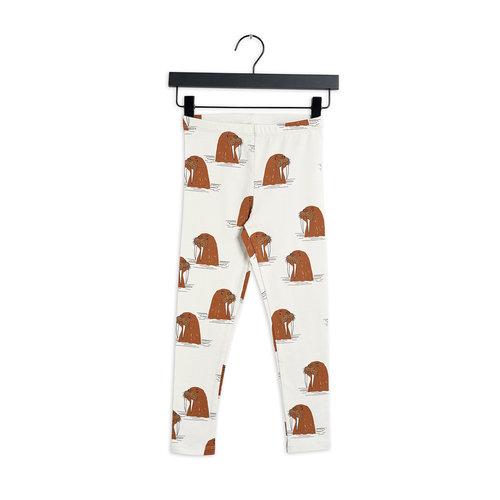 Mini rodini Walrus aop leggings grey