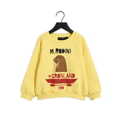 Mini rodini Walrus sp sweatshirt yellow