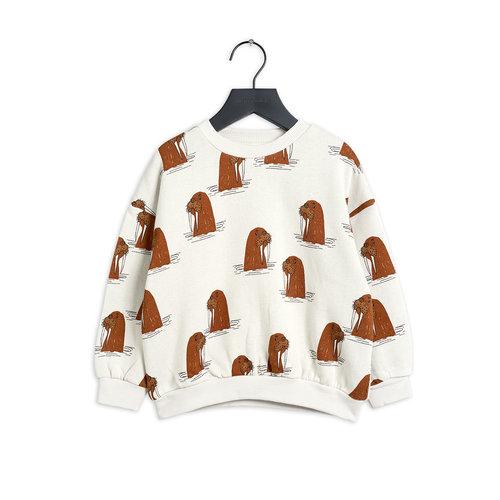 Mini rodini Walrus aop sweatshirt