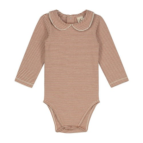 Gray label Baby Collar Onesie autumn/cream