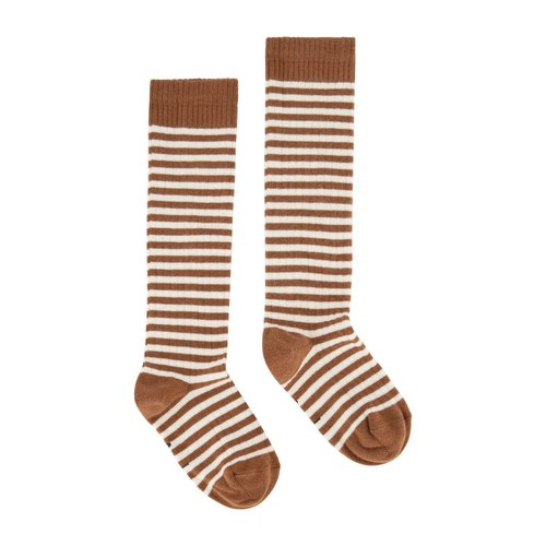 Gray label Long Ribbed Socks autumn cream